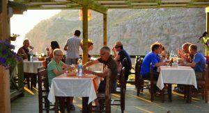 Lycian Way Holidays Hiking group eating