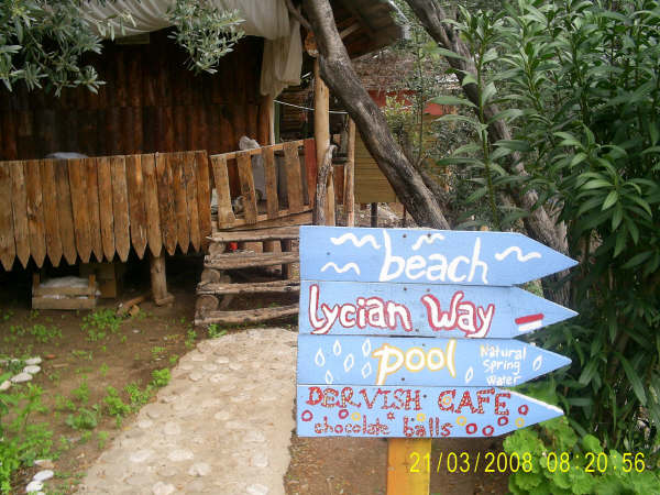 Colourful sign Lycian Way