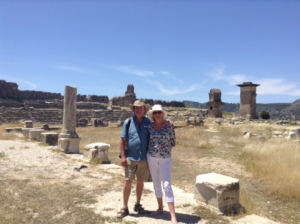 Lycian Way Holidays guests at ruins