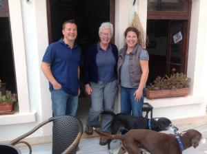 Your hosts with Kate Clow, founder of The Lycian Way