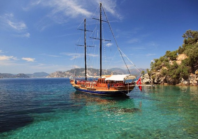Lycian Way holiday wooden gulet sailing boat