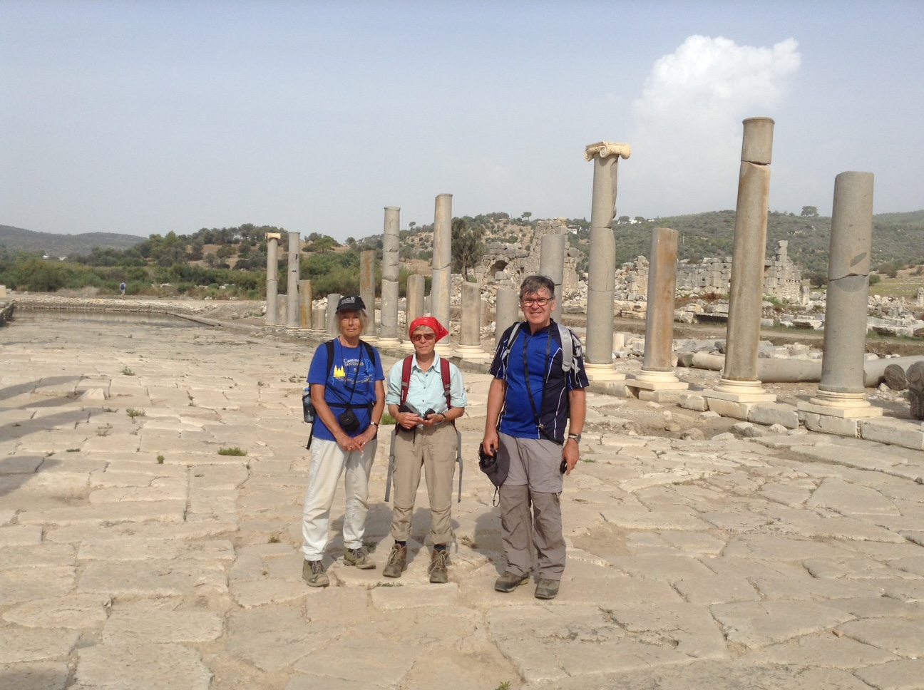Lycian Way group at Patara ruins