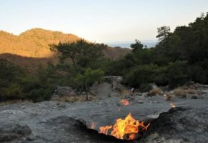 Chimera Flames Lycian Way Turkey