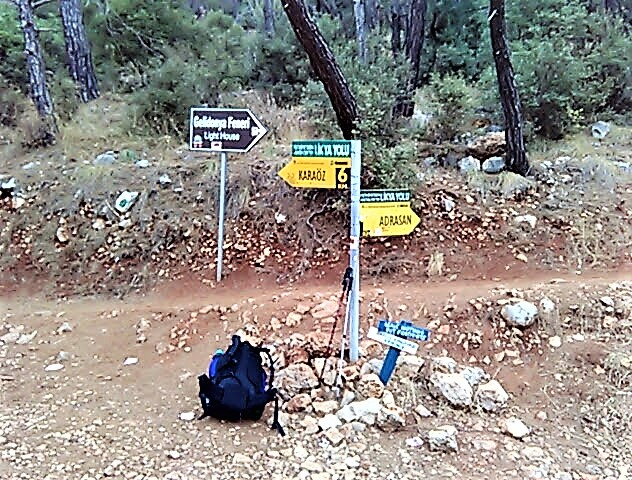 Lycian Way yellow marker posts