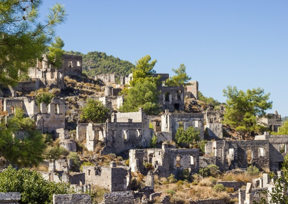 Old Greek town Kayakoy Turkey