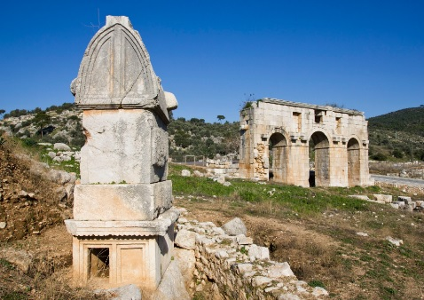 Lycian way holidays Patara ruins