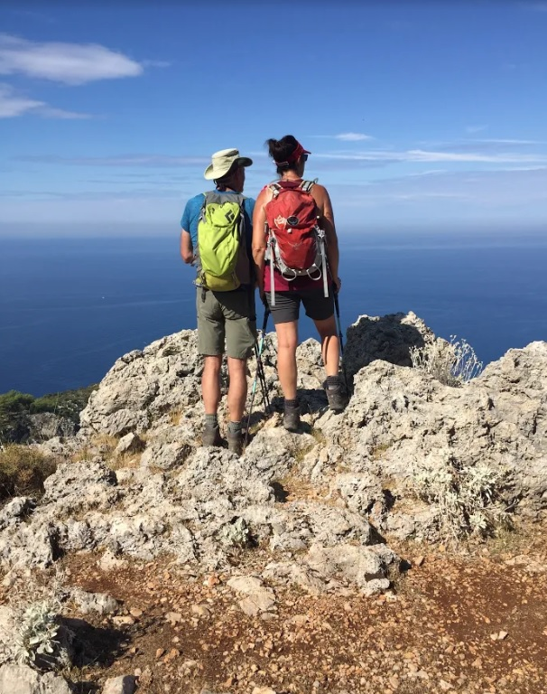 Lycian Way hikers look out to sea