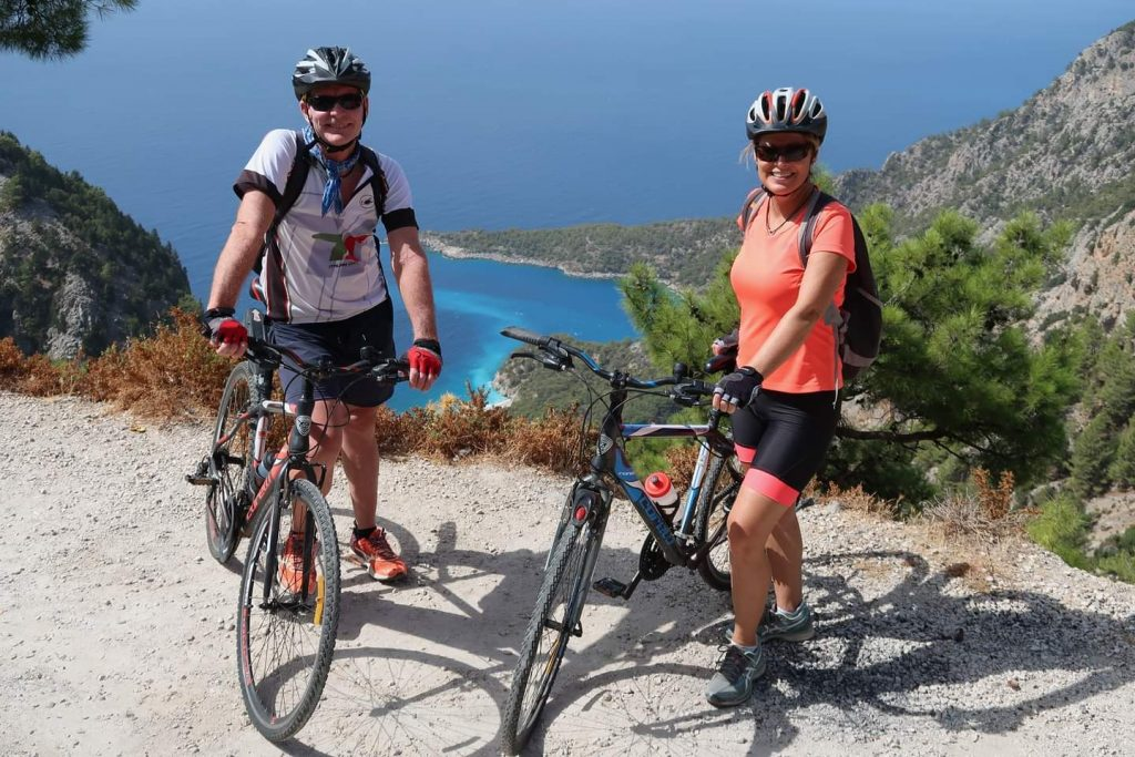 Cycling above Olu Deniz